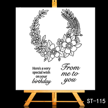 ZhuoAng Send you a blessing Clear Stamps/Card Making Holiday decorations For  scrapbooking Transparent stamps 10*10cm
