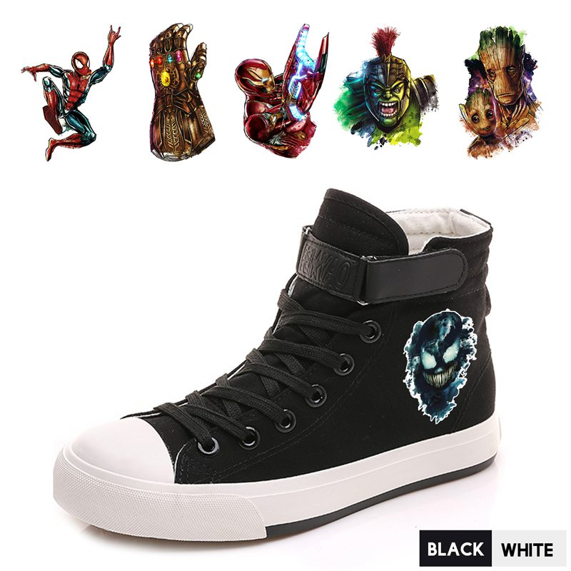 Loyal Hero Marvel Spider-man/hulk/groot Comfortable And Soft Men Breatheable Sneakers With Velcroshoelace Personalise Shoes A193291 Men's Shoes