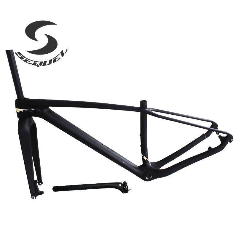 Carbon mtb frame T800 full carbon fiber matte BB68/BB30 bicicletas mountain bike 29er Chinese mountain bike frame+fork+seatpost 2017 new toseek t800 full carbon bike frame 26er 27 5er 29er mtb bicycle frame ud matte 15 17 19 21 inch match 27 2mm seatpost