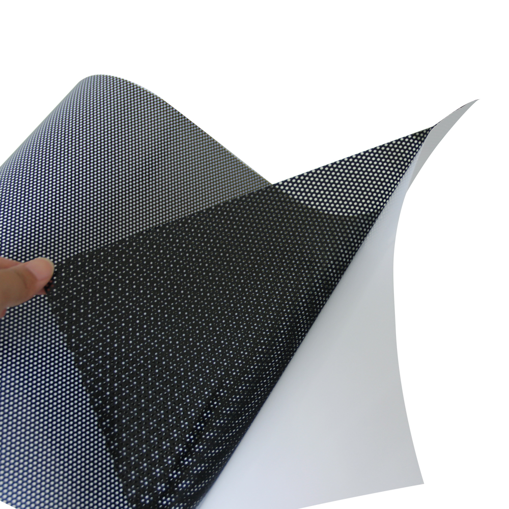 Perforated Mesh Film Double Black One Way Vision Vinyl