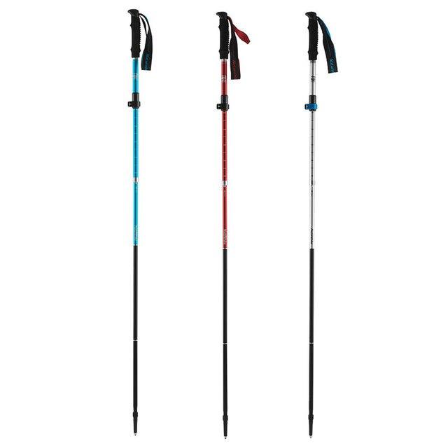 を折るnaturehikeアルミニウム合金調整可能な超軽量トレッキングポールトレッキングポール屋外登山杖