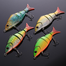 Multi Jointed Fishing Lures Bait ABS plastic swimbait font b fishhook b font tackle striking 12