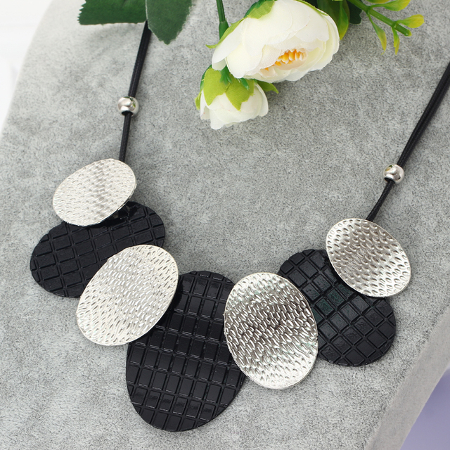 Hesiod Jewelry Maxi Necklace Vintage Bib Choker Colar Chunky Statement Necklaces