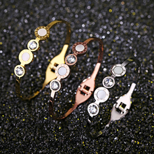 Top Quality Circle Shell brand letter Fashion Jewelry Cuff Carter Bracelets Bangles 316L Stainless Steel Bracelets For Women цена