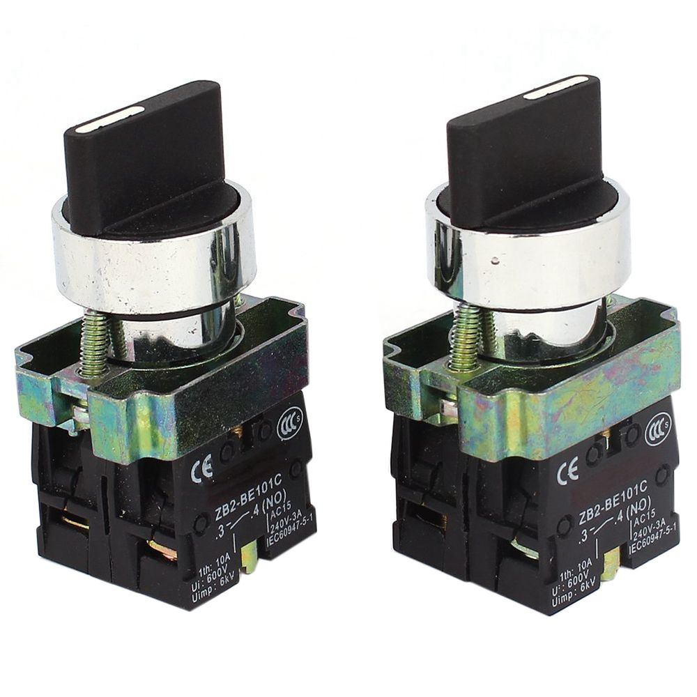2 Pcs 2NO DPST 3 Positions Maintained Rotary Selector Switch 600V 10A 660v ui 10a ith 8 terminals rotary cam universal changeover combination switch