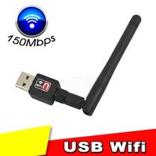 Ralink MT7601 150M 2 0 USB Bezprzewodowa sieć WIFI karta sieciowa 802 11 b g n adapter LAN z obrotową anteną i pakietem detalicznym dla PC tanie tanio Ethernet z kebidumei Pulpitu 802 11 na n KBT001121 150mbps Zewnętrznych Bezprzewodowy ZŁĄCZE USB 2 0 Innych