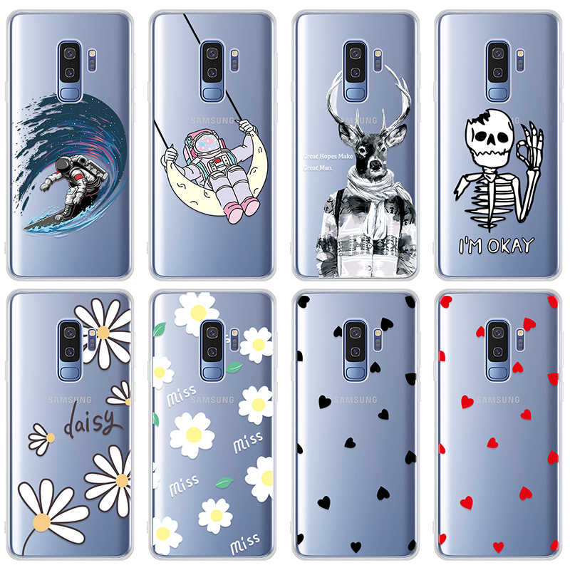Patterned TPU Case For Samsung Galaxy A50 A40S A30 A20E S10E Plus Silicone Protective Cover For A50 S10 Painted Clear Coque Capa