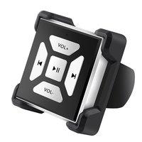 Ihens5 steeringtホイールのbluetoothカーキットスマートボタンリモコン用iphone androidとiosのスマートフォンで取り付けクリッ