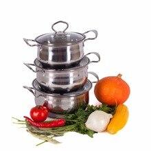 SET von töpfen Vetta HOSEN 1,5/2/2,5 MIT ABDECKUNGEN KOCHEN PAN küchenmesser thermos gericht wasserkocher hohe qualität rabatt verkauf 822-026