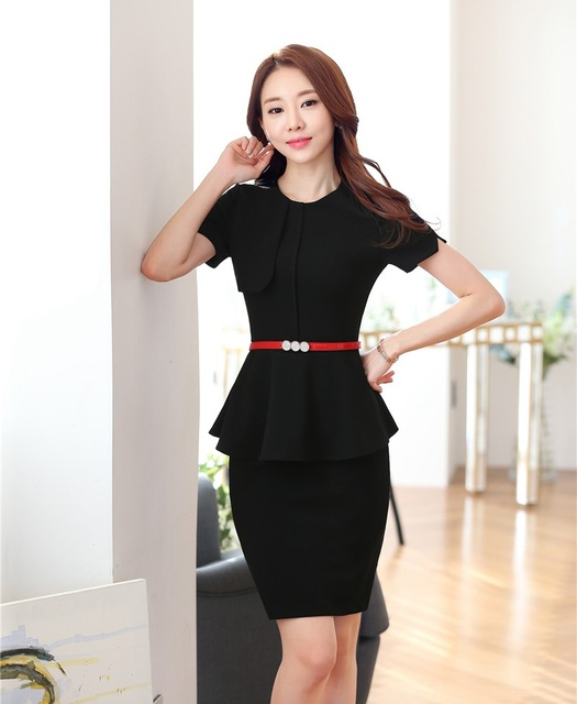 Aliexpress.com : Buy Summer Formal Women Work Wear Suits with Two ...