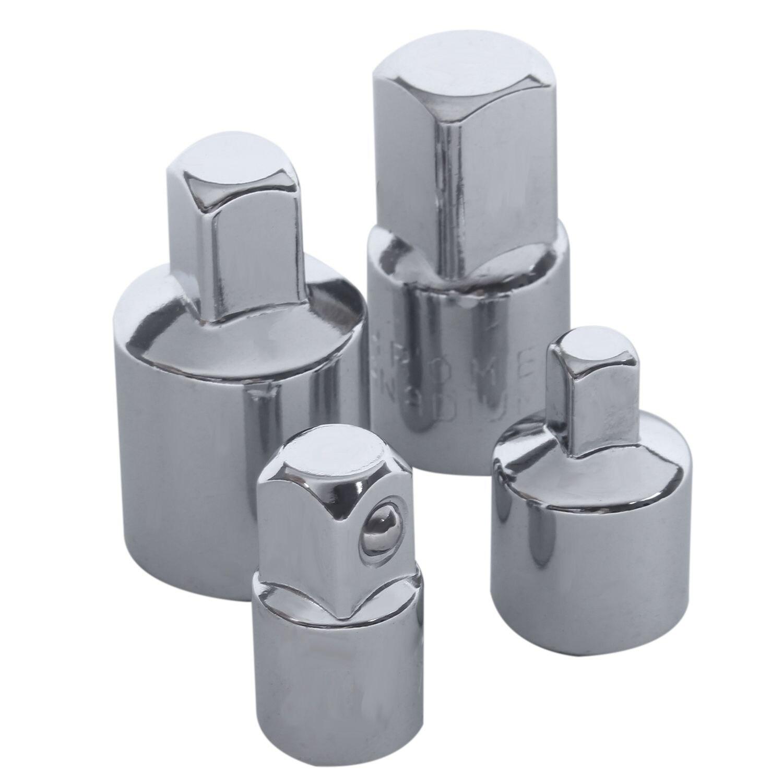 4 In 1 1/2x3/8 3/8x1/4 3/8x1/2 1/4x3/8 Socket Reducers Adaptors Tool Set Garage Mechanics Engineers DIY Gadgets