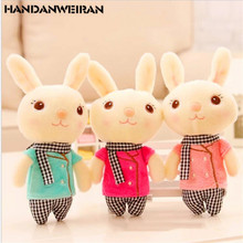 1 PCS 13CM Cartoon Scarf Bear Plush toys kawaii Rabbit stuffed Toy Keychain Pendant Bag Christmas Gift for girl or boys