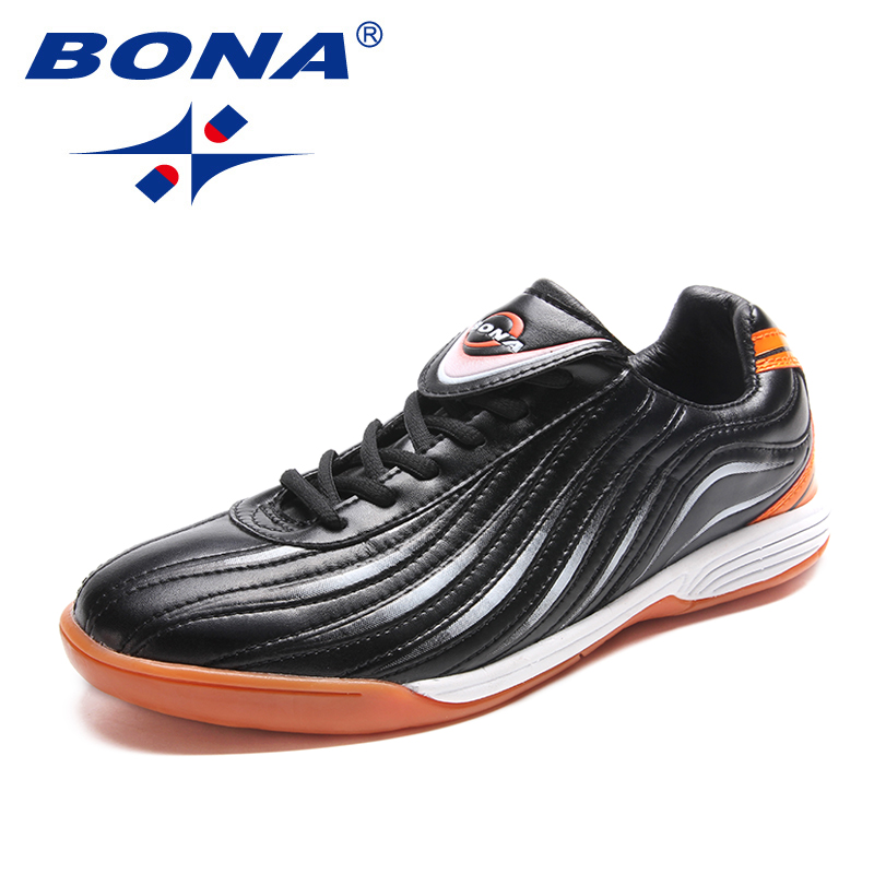 BONA New Classics Style Men Soccer Shoes Lace Up Men Professional Trainer Football Shoes Outdoor Jogging