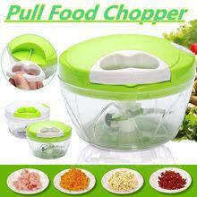 Máquina de Picar Alimentos Manual de Cocina Tirando Multifunción Licuadora Para Frutas Y Verduras Espiral Slicer Dicer Picadora de Alimentos Mezclador de Carne