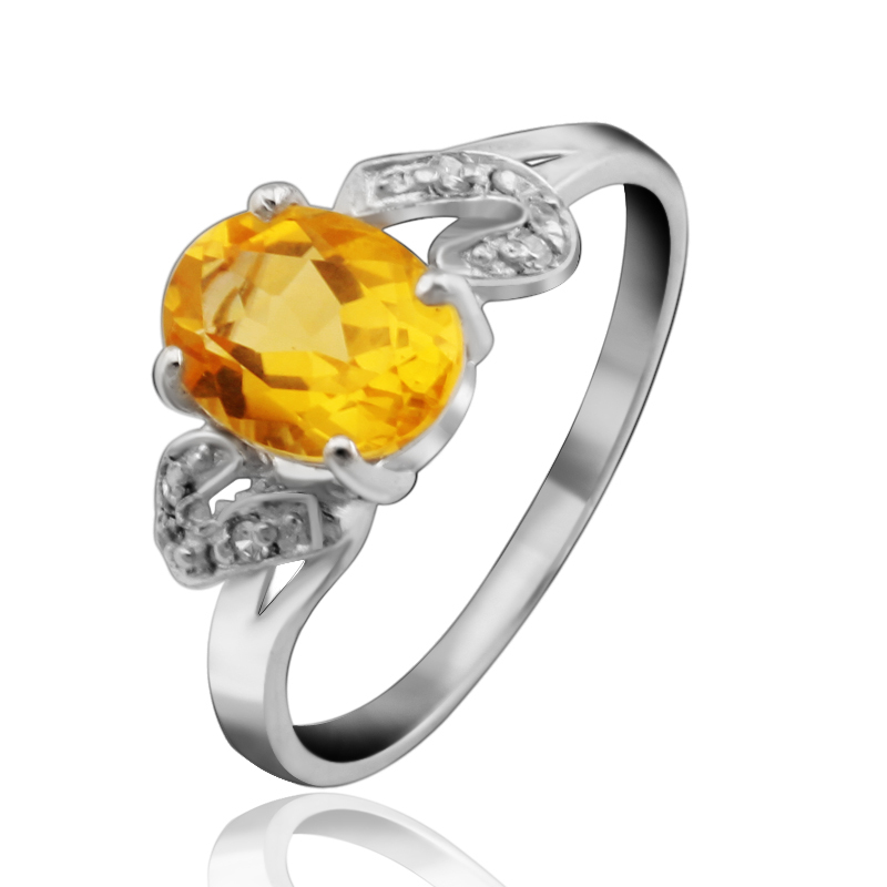 Natural Citrine Ring 925 Sterling Silver Yellow Crystal Woman Fashion Fine Elegant Jewelry Queen Lux Birthstone Gift sr0081c все цены
