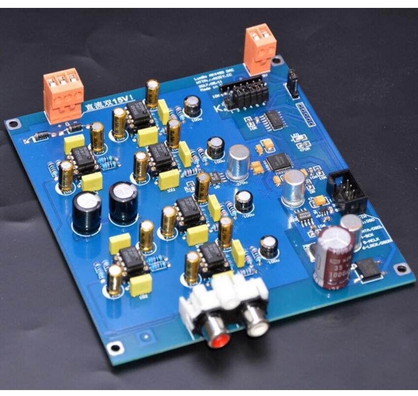 цена на AK4490EQ DAC decoder Official standard circuit! I2S DSD input Semi-finished diy kit board B3-002