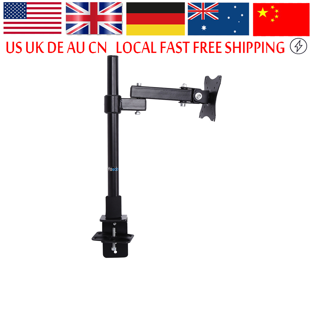 Computer Monitor Stand Single LCD Screen Bracket Monitor Stand Fully Adjustable Screen Up To 27