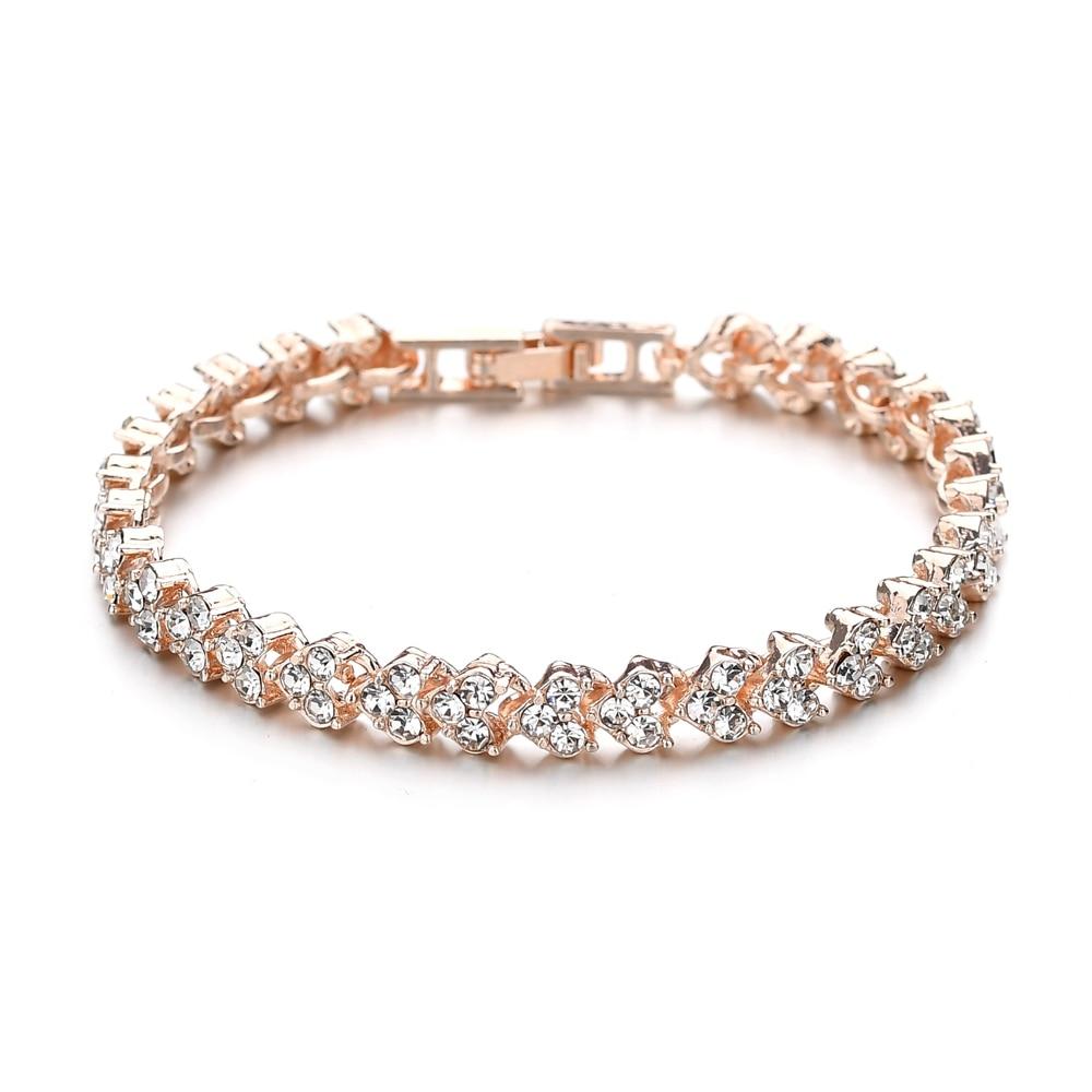 MissCyCy mode coeur cristal Bracelets pour femme luxueux or Rose couleur Bracelets & Bracelets de mariée mariage bijoux cadeau