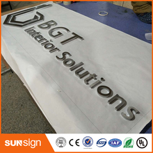 3D no light channel letter with car paint stainless steel letters