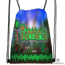 Custom Terraria Drawstring Backpack Bag Cute Daypack Kids Satchel (Black Back) 31x40cm#180531-02-37