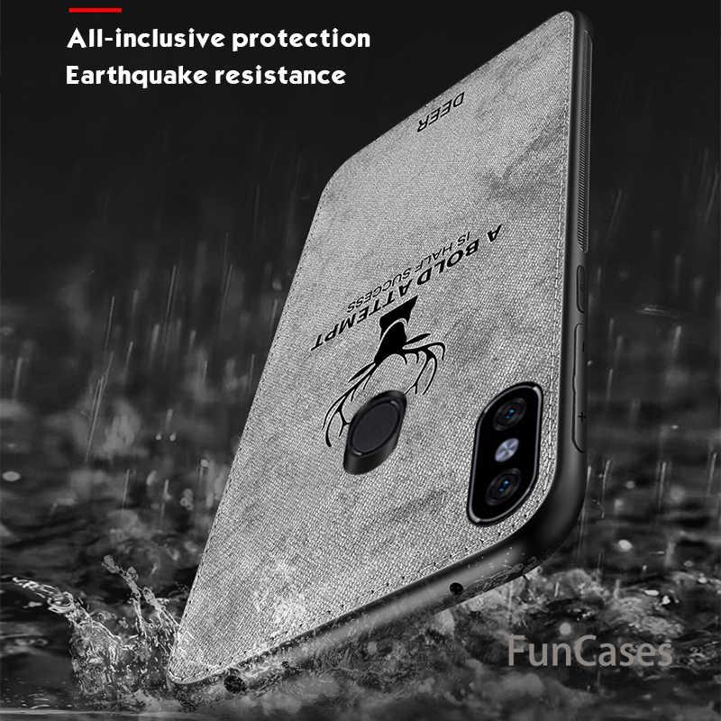 Тканевый чехол с оленем для Xiaomi Redmi Norte 5 Pro 7 6 Pro 6A 5 Plus 5A, Классический чехол из матовой кожи, Жесткий Чехол для задней панели