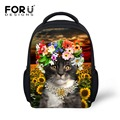 Fashion 12inch Children School Bags Printing Cute Cat Primary School Kids Book Bag Small Little Girls Schoolbags High Quality