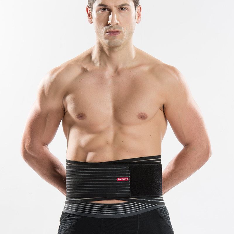 Kuangmi Double Pull Lumbar Back Brace Exercise Belt Waist Support - Sportswear and Accessories - Photo 1