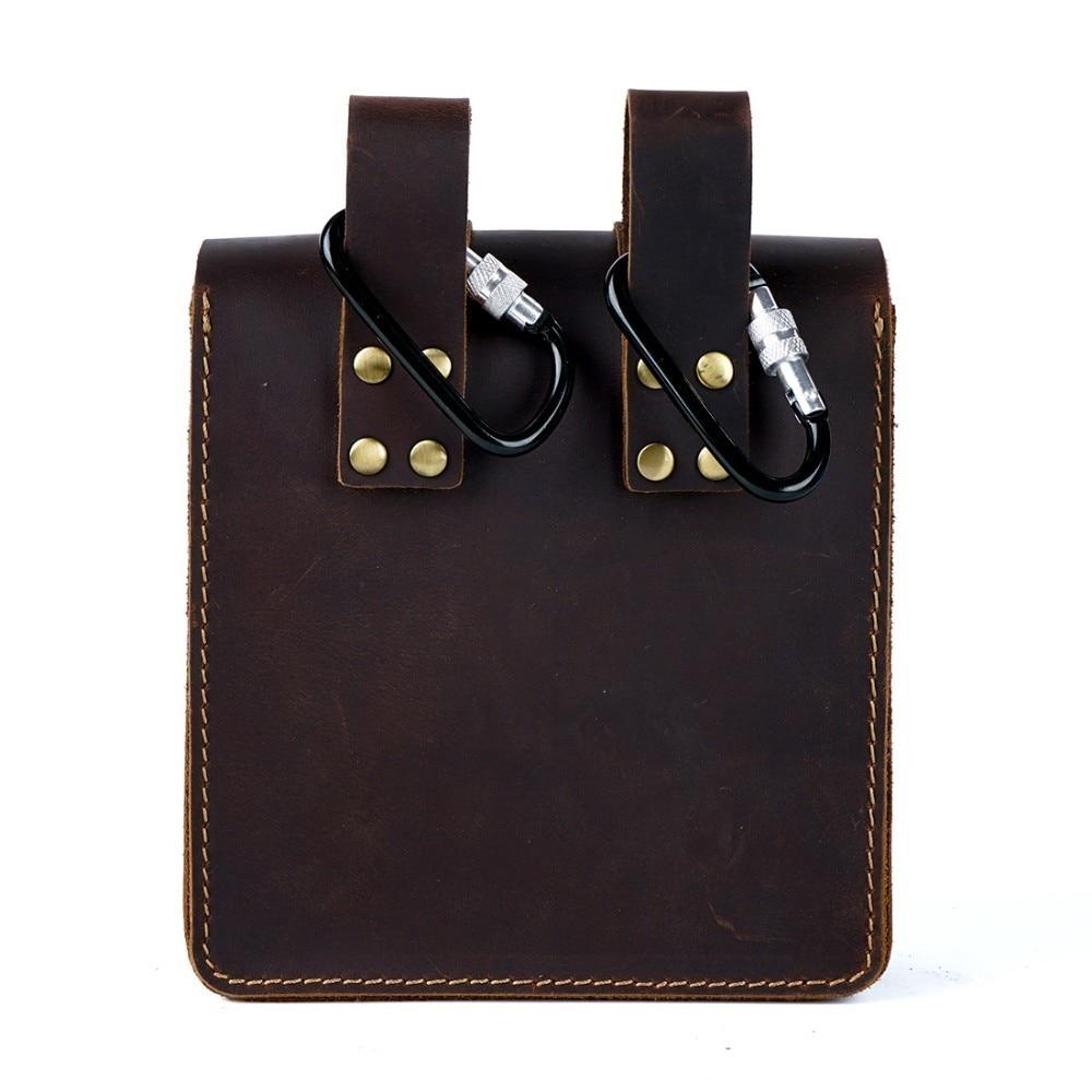 Image 3 - Moterm Genuine Leather Fanny Pack Waist Bag Belt Phone Pouch Bag  for Men Vintage Travel Waist Pack Male Small Waist BagWaist Packs   -