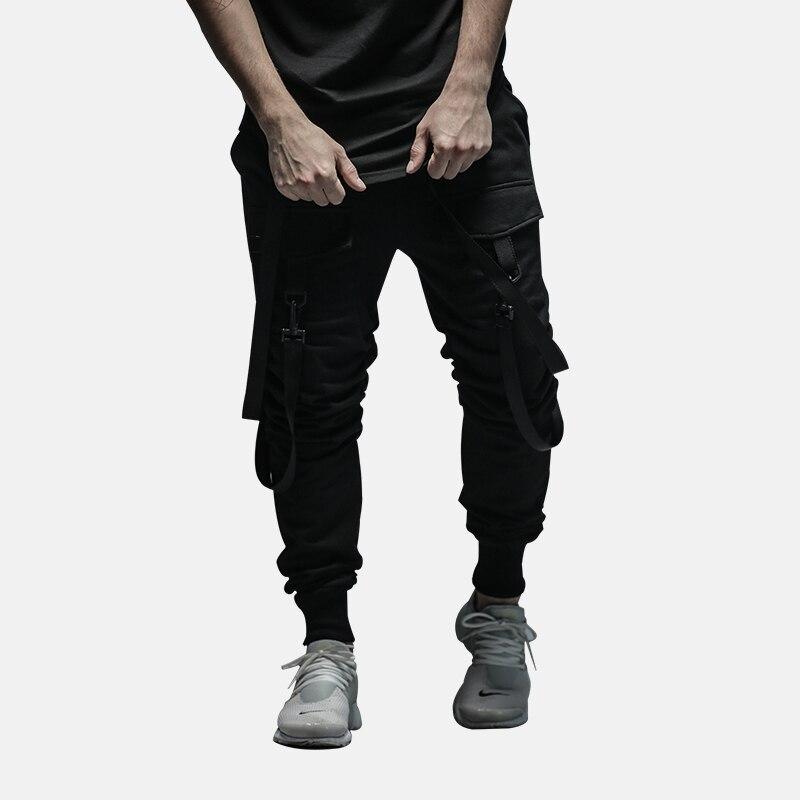 Luźne Spodnie z Szelkami Streetwear Hip Hop