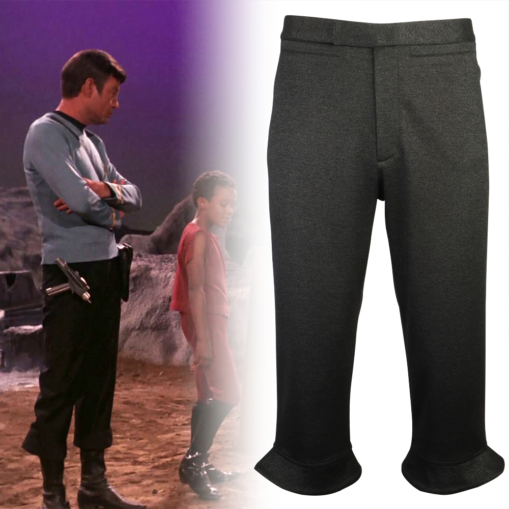 Star Costume The Original Series Trek Starfleet Uniform Pant TOS Men Kirk Spock Pants Halloween Party Pr image