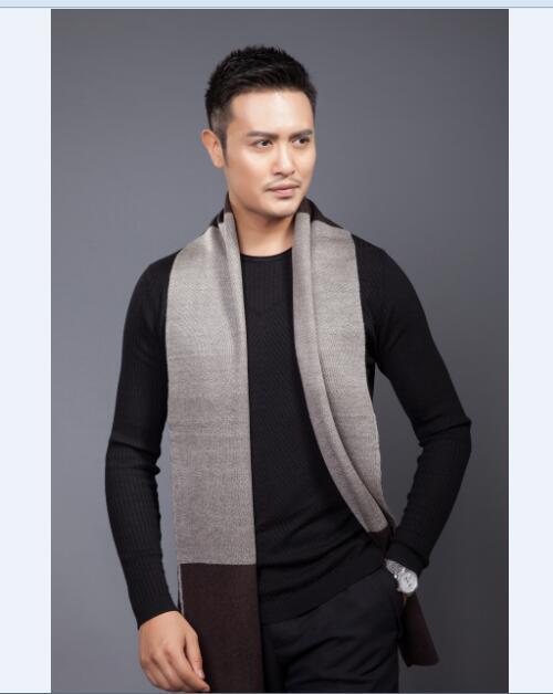 Горячая распродажа новый модный мода полосатый вязание шарфы мужчины / человек шали шарф