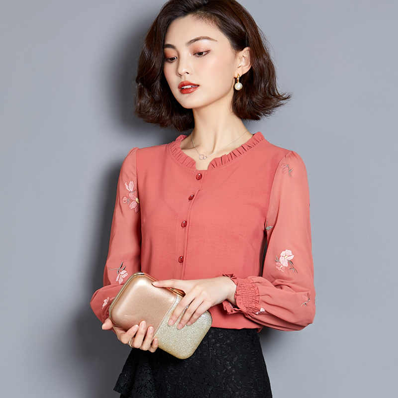 48d5dd971b womens clothing 2019 women's blouses plus size women white shirt long  sleeve shirts Chiffon blouse ladies tops harajuku 2640 50