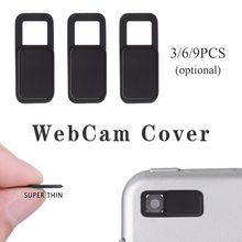 3/6/9 Pcs Shutter Magnet Slider Camera Cover Universal WebCam Cover fo