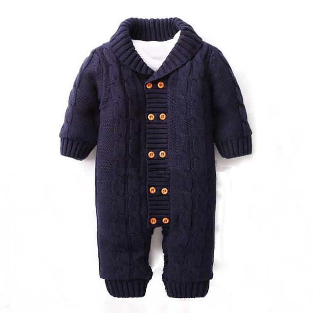 84333dccdc7f placeholder Plus Velvet Winter Warm Baby Romper Brand Cotton Newborn Baby  Boy Winter Rompers For 0-