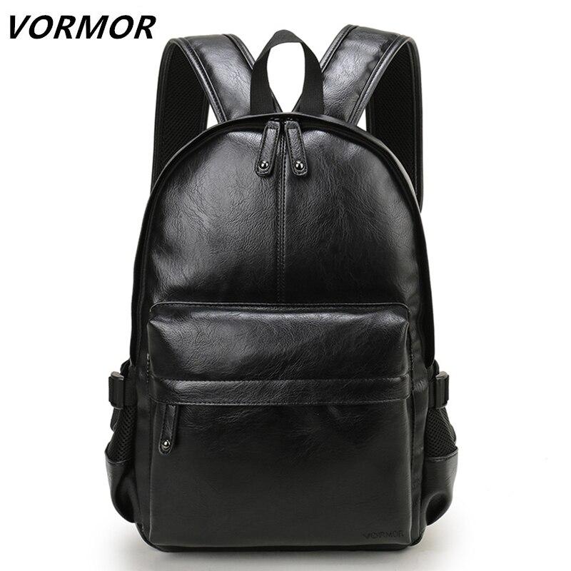 VORMOR Marke Adrette Leder Schule Rucksack Tasche Für College Einfache Design Männer Casual Daypacks mochila männlich Neue
