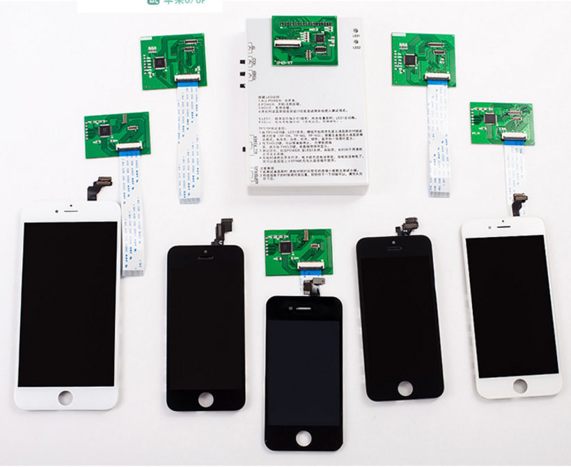 Pour iPhone 4g 4S 5 5S 5c 6 6 Plus LCD Testeur Machine 7 dans 1 LCD et Tactile écran Blanc Essais Cadre