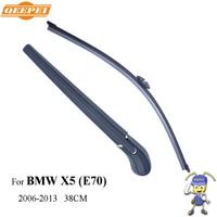 QEEPEI Rear Wiper Blade Arm For BMW X5 E70 5 Door SUV 38CM 2006 2013 Car