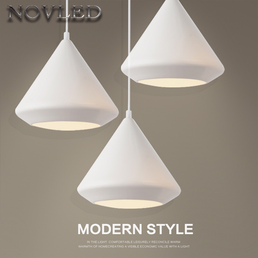 Nordic LED Pendant Light White Painted Iron Concise Style Lamp Classic Hanging Lights Diamonds Indoor Kitchen Island Lighting ...