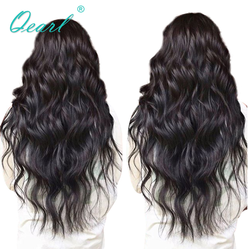 Qearl Full Lace Wigs Human Hair With Baby Hair Wavy Remy Hair Lace Wigs 130% 150% 180% Density Pre Plucked Natural Hairline