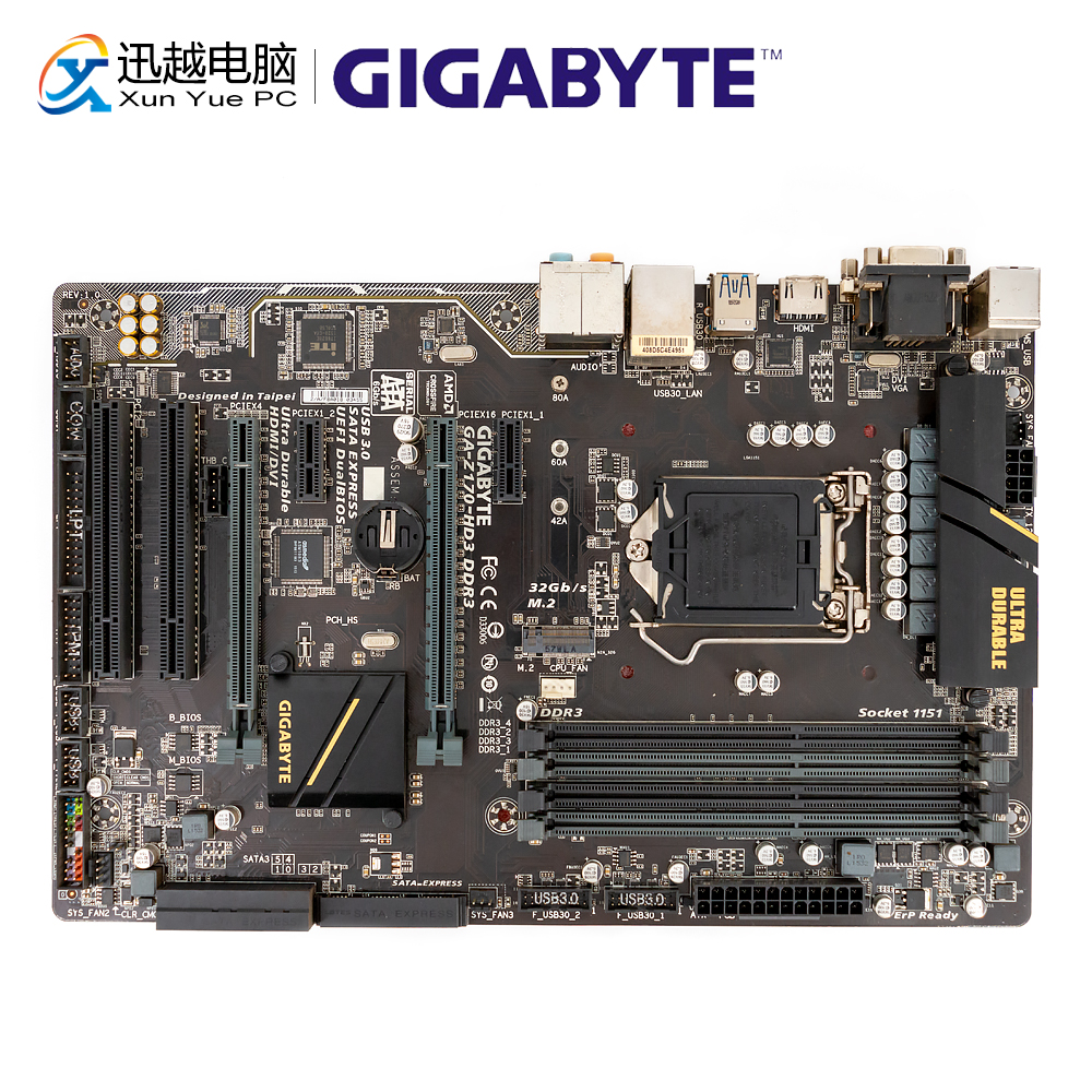 Gigabyte Ga-z170-hd3 Ddr3 Desktop Motherboard Z170-hd3 Ddr3 Z170 Lga 1151 Core I7 I5 I3 Ddr3 64g Sata3 Usb3.0 Vga Hdmi Dvi Atx Products Are Sold Without Limitations Computer Components
