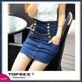 2016 Fashion Spring Summer Women Short Skirts Slim Pencil High Waist Denim Skirt Jeans Free Shipping c364