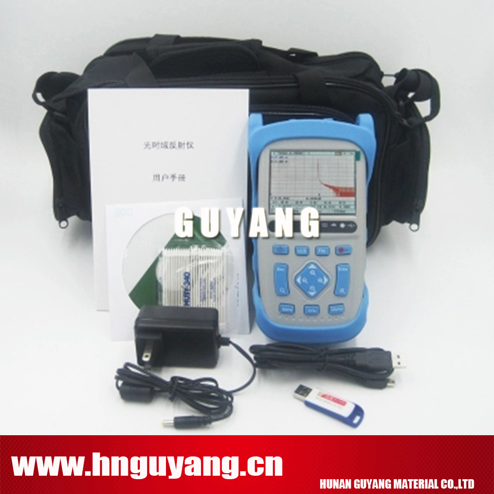 DHL free shipping GUYANG GY5600A handheld OTDR 120km 32/30dB 1310/1550nm Optical Time Domain Reflectometer with VFL