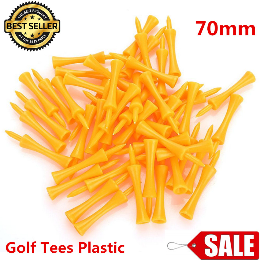 Golf Tees Plastic 70mm Orange Color Duarble Golf Castle Tees 2 3/4 Inch 24 50 100 Count Tee Holder Practice Training Golf Tees