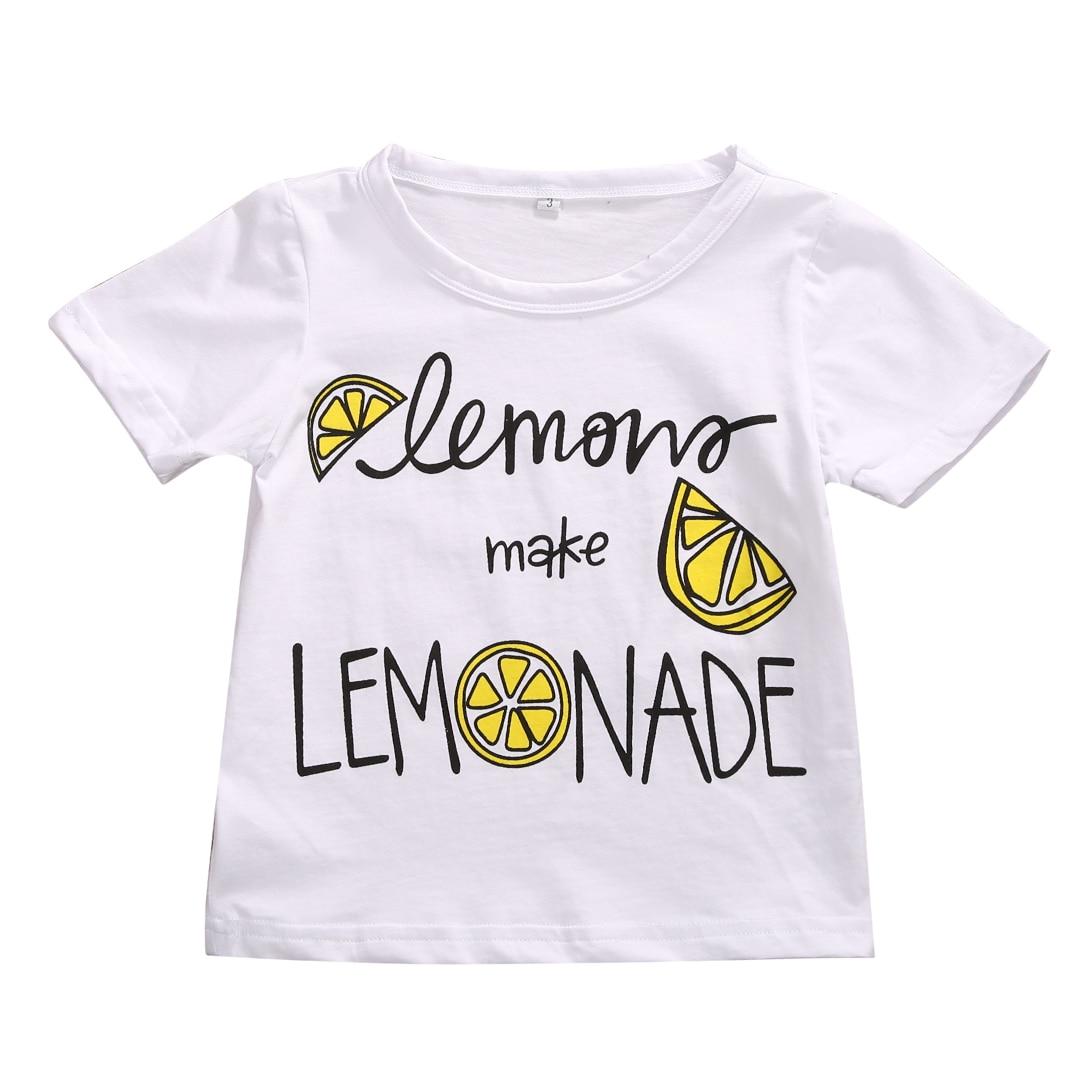 Summer 2017 Cute Newborn Baby Girl Summer lemon Cotton