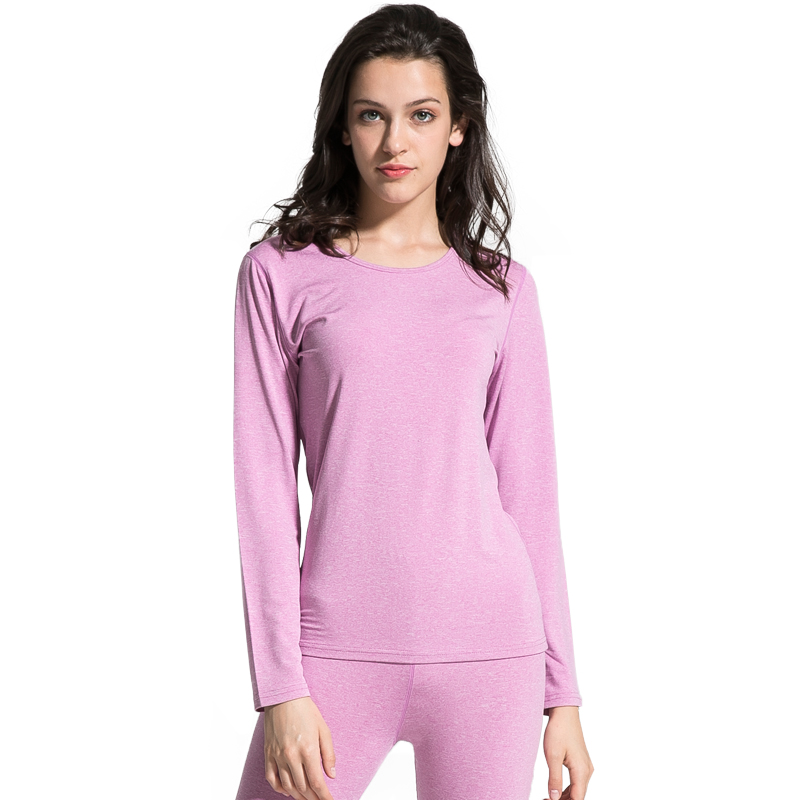 Fashion Women Thermal Underwear O-Neck Thick Long Johns Sets  Winter Warm  Solid Tops+Pants Female Basic Underwear Soft M-XXL