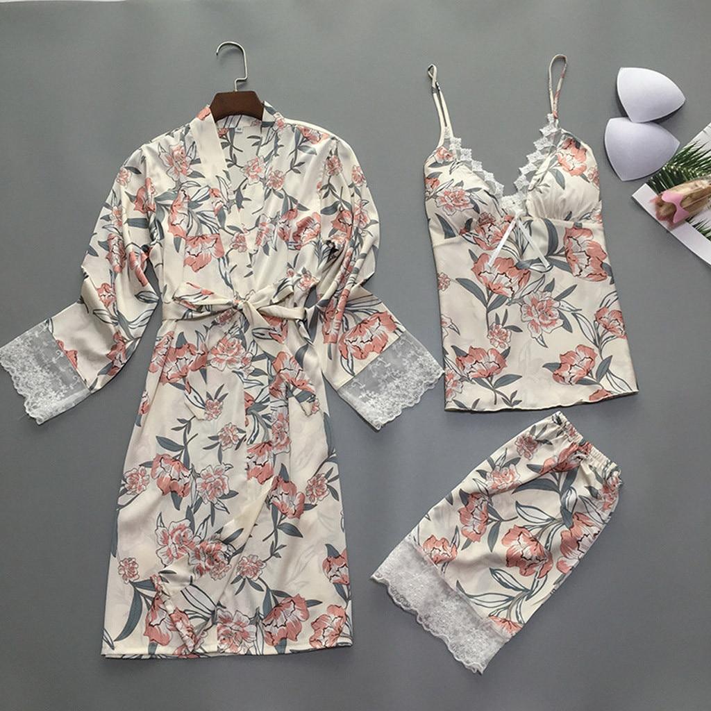 2019 Для женщин банные халаты с длинным рукавом сезон: весна–лето ночной халат