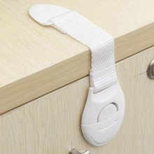 10 PCS Baby Care Safety Equipment Cabinet Locks Strap Lock Protective Locking Doors Refrigerator Drawer Cupboard Desk Protection(China)
