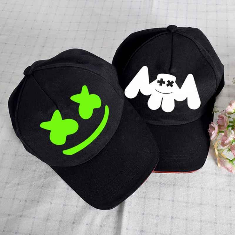 Для женщин и мужчин музыка хип-хоп DJ лицо печати бейсболка светящиеся электронные звуковые вентиляторы Холст Snapback шляпа вечерние реквизит уличная