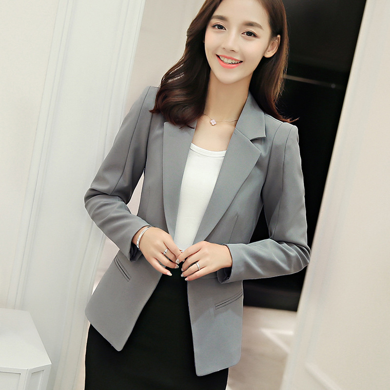 2017 New Women Plus Size Blazer Feminino Ladies Blazers Long Sleeved Slim Women Blazers And ...