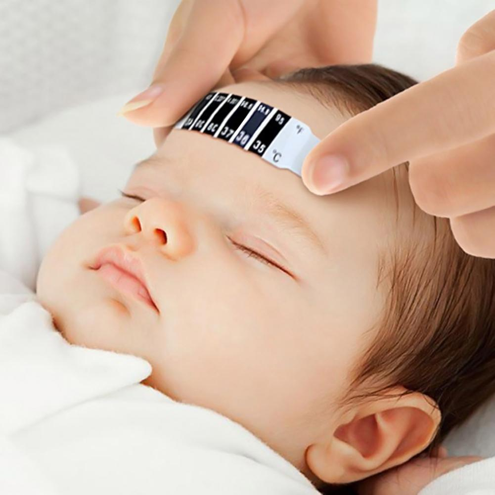 2PCS/Pack Forehead Head Scale Thermometer Strip Bendable Body Temperature Gauge Baby Forehead Temperature Measurement Strip